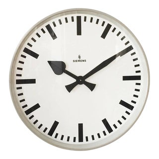 Large Siemens Factory or Workshop Wall Clock For Sale