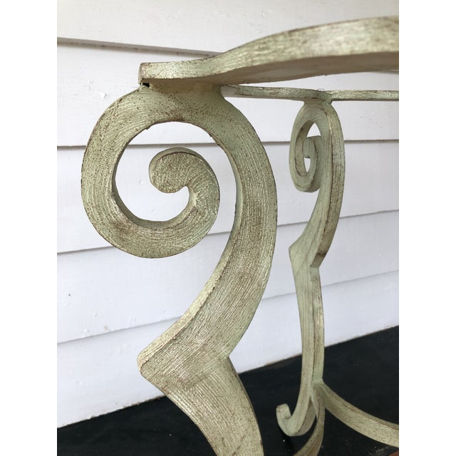 Drexel Heritage Metal Scroll Side Table For Sale In Washington DC - Image 6 of 8
