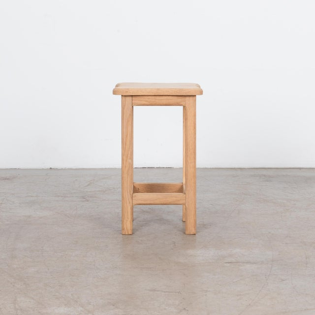 A simple and functional Oak stool.