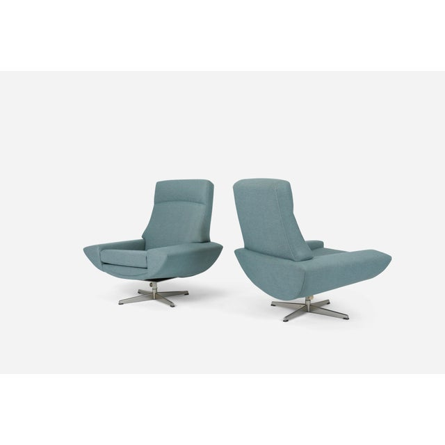 Capri Swivel Chairs by Johannes Andersen for Trensum, 1958 For Sale In Chicago - Image 6 of 7
