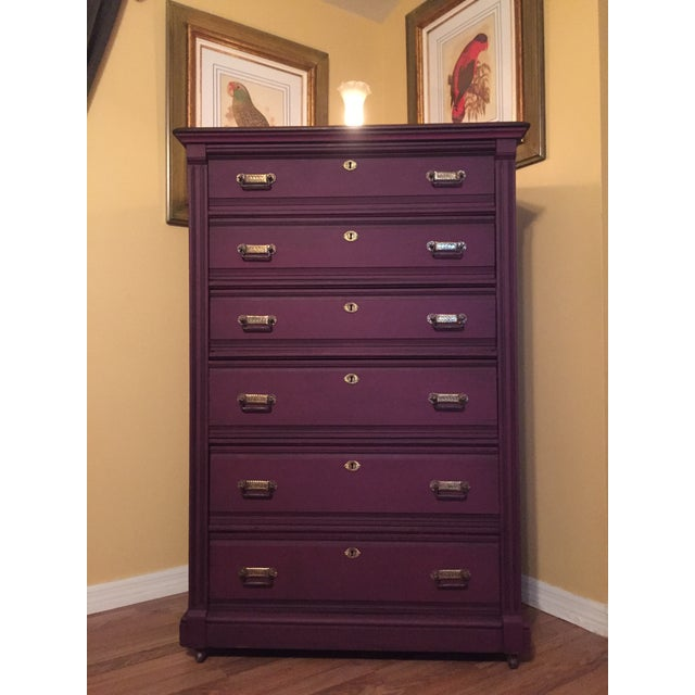 1900s Early American Antique Painted Highboy Chest of Drawers For Sale - Image 13 of 13