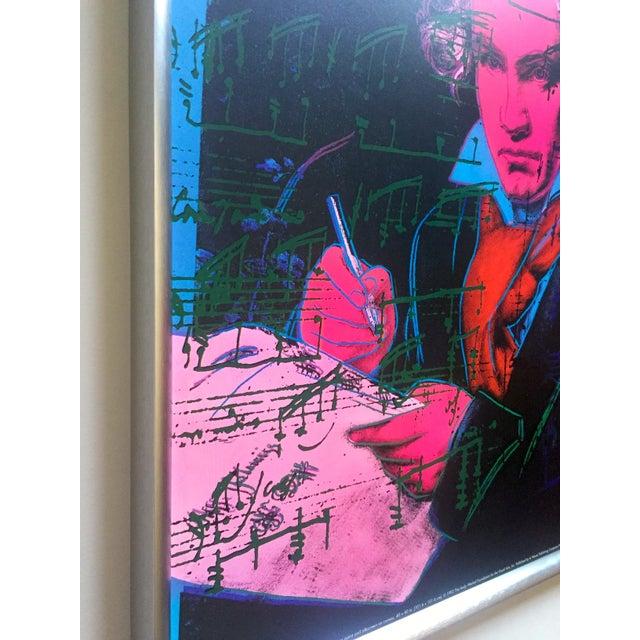 "1990s Andy Warhol Foundation Vintage 1992 Lithograph Print Framed Pop Art Poster "" Beethoven "" 1987 For Sale - Image 5 of 13"