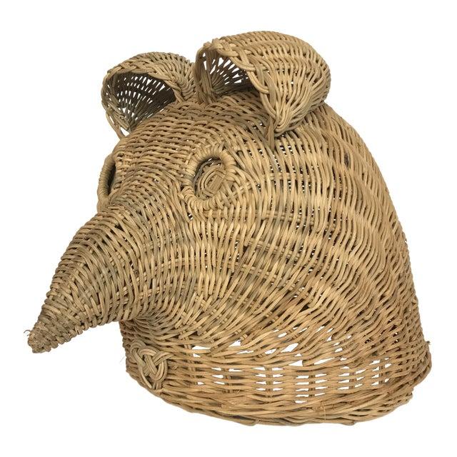 Bohemian Wicker Owl Head For Sale