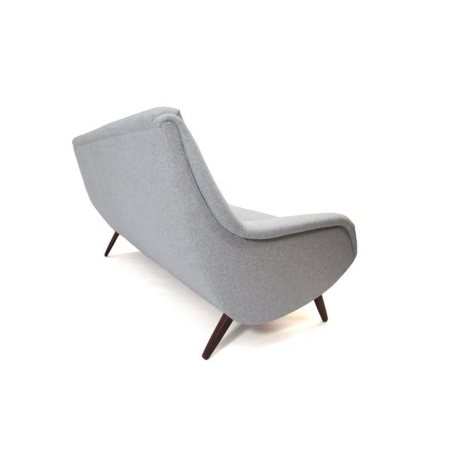 Fabric 1958 Vintage Bengt Ruda for Esa Mobler Danish 3 Seat Sofa For Sale - Image 7 of 9
