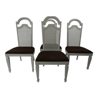 Hollywood Regency White Painted Chairs - Set of 4