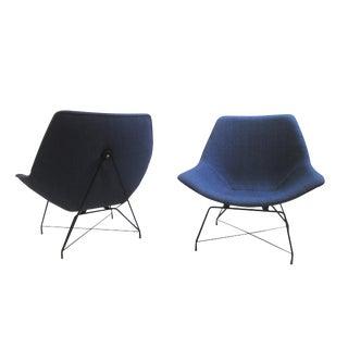Pair of Two Augusto Bozzi Chairs for Saporiti, Italia, 1950s