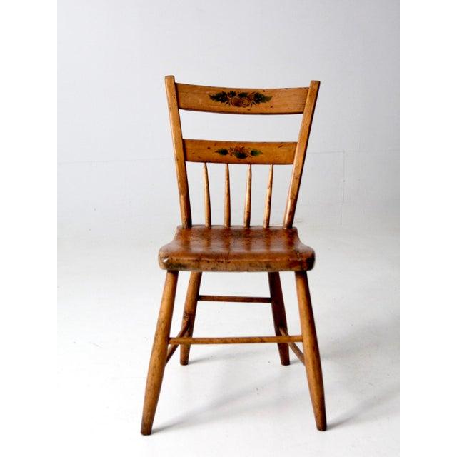 Farmhouse Antique Primitive Chair For Sale - Image 3 of 10
