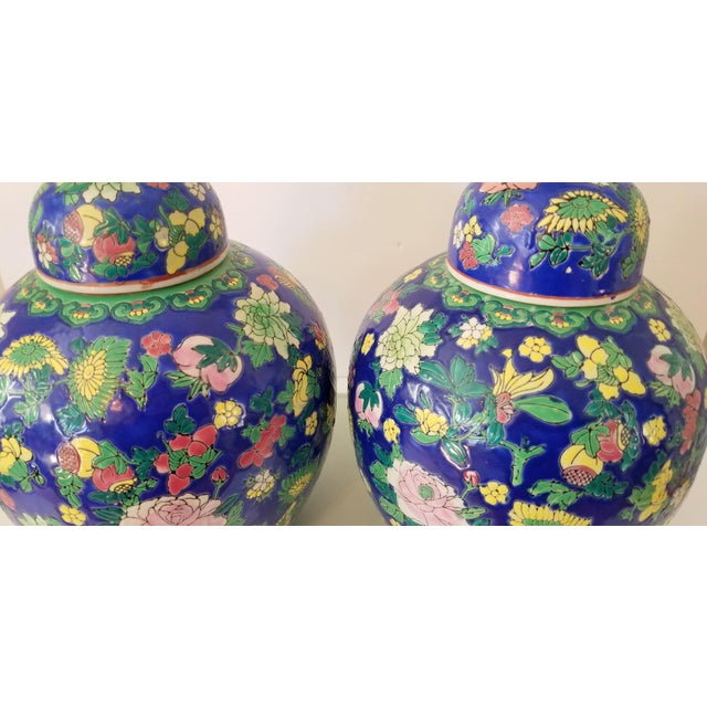 Contemporary Asian Ginger Jars - a Pair For Sale - Image 9 of 11