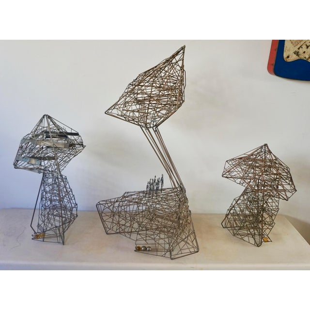 1960s Abstract Guy Pullen Wire Sculpture For Sale In Palm Springs - Image 6 of 8