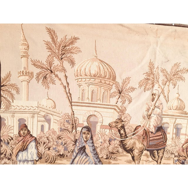 Large 19th Century Orientalist Scene and Moorish Architecture Tapestry For Sale - Image 11 of 12