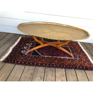 1960s Moroccan Brass Tray Coffee Table Preview