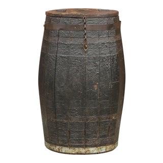 Grain Barrel Side Table For Sale
