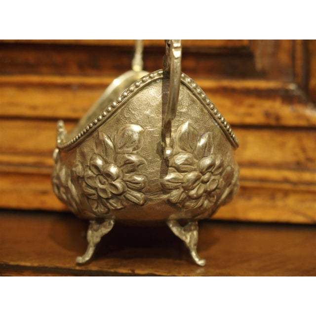 Small Antique Silver Gondola Form Serving Bowl From Germany, Circa 1900 For Sale - Image 4 of 13