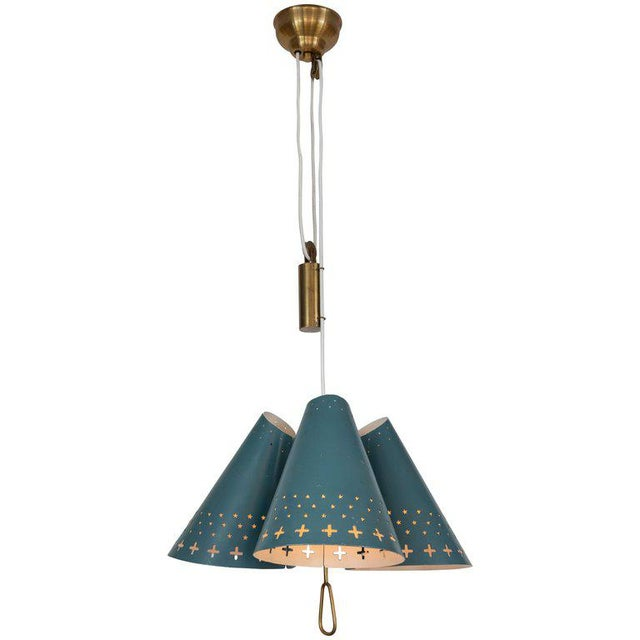 1950s Bent Karlby Counterweight Chandelier for Lyfa For Sale - Image 13 of 13