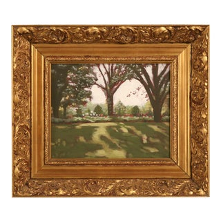 "Original ""Summer in the Country"" Signed LR-Nice Gilt Frame For Sale"