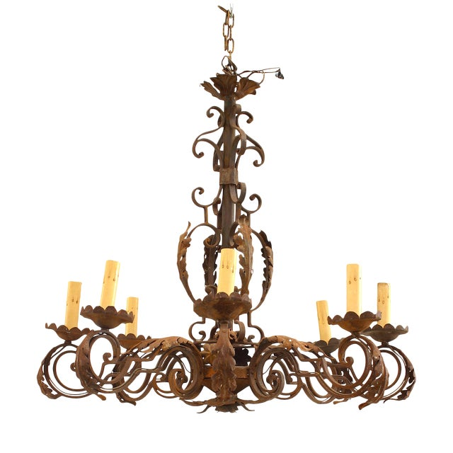 20th Century Italian Renaissance Style Chandelier For Sale