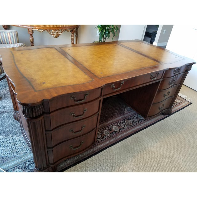 kidney michigan furniture company antique holland antiques desk r general lowry collectibles office wood shaped sligh