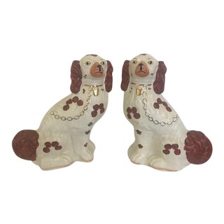 1960s Vintage Arthur Wood Staffordshire Dogs - a Pair For Sale