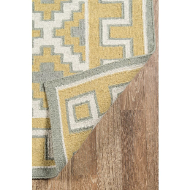 2010s Erin Gates by Momeni Thompson Brookline Gold Hand Woven Wool Area Rug - 7′6″ × 9′6″ For Sale - Image 5 of 8