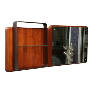 Fine Italian Mahogany Mirror/Shelf, Circle of Gio Ponti For Sale