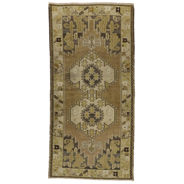 Vintage Turkish Oushak Runner Rug - 4′ × 8′1″ - Image 6 of 6