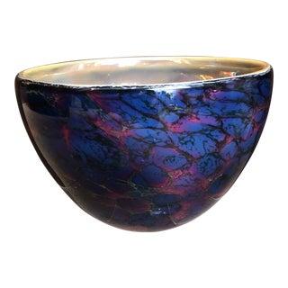 Art Glass Encased and Signed Vessel For Sale