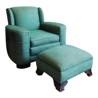 Art Deco Club Chair & Ottoman