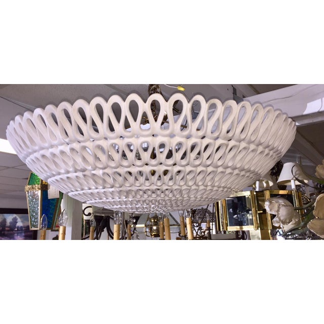 "1970s Contemporary Oly Studio ""Pipa"" Bowl Chandelier For Sale - Image 11 of 11"
