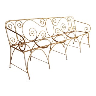 1910 Antique French Tuileries Bench For Sale