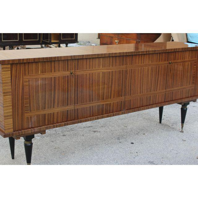 1940s Vintage French Art Deco Macassar Ebony Sideboard or Buffet/Bar - Image 6 of 10