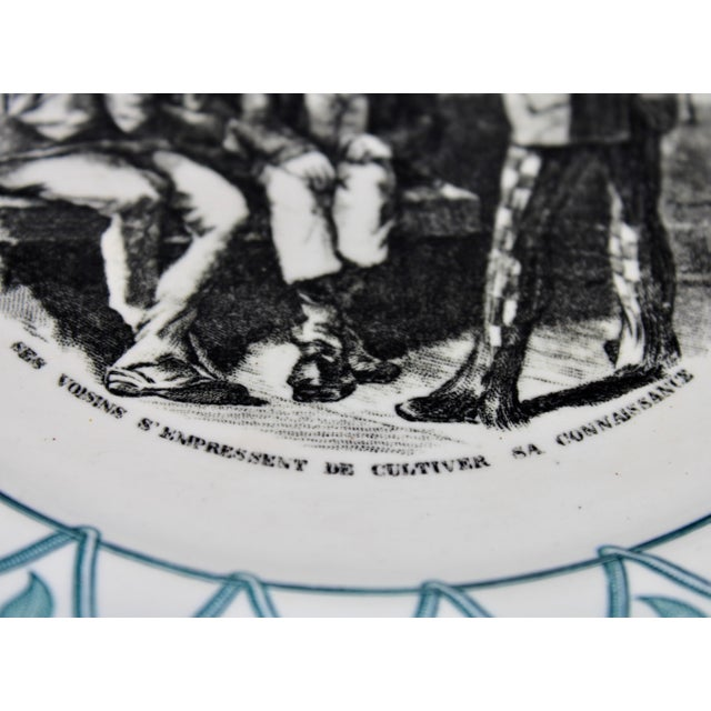 """Early 20th Century French Plate """"Au Violon"""" For Sale In Tulsa - Image 6 of 10"""