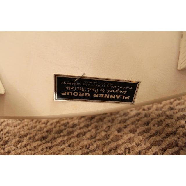 Mid-Century Danish Modern White Paul McCobb Planner Group Desk Side Chair For Sale - Image 11 of 11