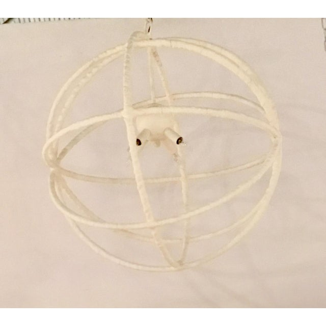 2010s Regina Andrea White Textured Orb Pendant For Sale - Image 5 of 5