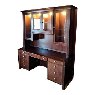 Sligh Mira Credenza and Desk #4016/3016-1-Mr and Bookcase/Credenza #1314-1-Mr For Sale