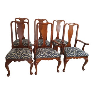 Ethan Allen Georgian Court Solid Cherry Traditional Style Dining Chairs - Set of 6 For Sale