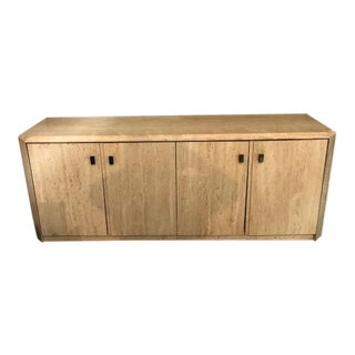 Mid Century Modern Travertine Sideboard For Sale