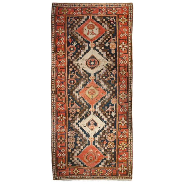 "Early 20th Century Karabagh Rug - 54"" x 113"" For Sale"
