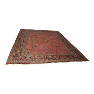 1990s Indian Sarouk Hand-Knotted Rug - 8′ × 10′ For Sale