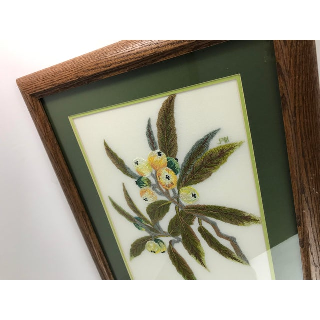Handmade Needlepoint Eucalyptus Branch Art For Sale - Image 4 of 7