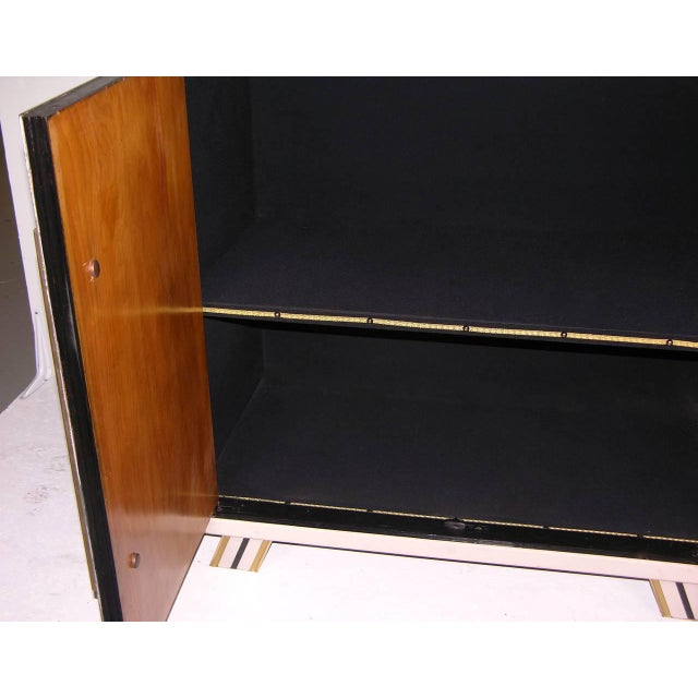 1970s Italian Art Deco Gold Black and White Cabinets or Sideboards - a Pair For Sale - Image 10 of 11