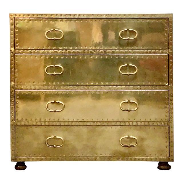 1970's Vintage Brass Dresser by Sarreid Ltd. For Sale