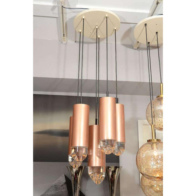 Gold Industrial RAAK Ceiling Mount Fixture For Sale - Image 8 of 9