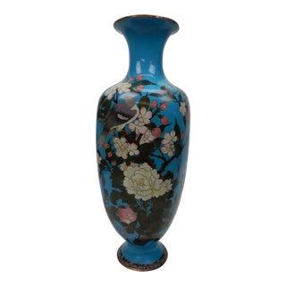 Large Antique 19th Ct. Meji Period Japanese Cloisonne Vase