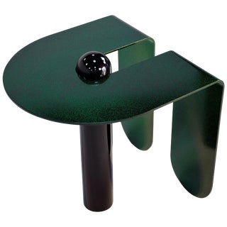 Playful Geometric Side Table by Birnam Wood Studio and Suna Bonometti For Sale