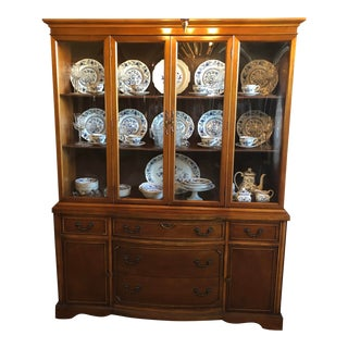 1940s Vintage Duncan Phyfe China Cabinet For Sale