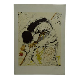 """Limited Edition """"Don Quijote Y Sancho"""" Signed Numbered (77/300) Print by Salvador Dali For Sale"""