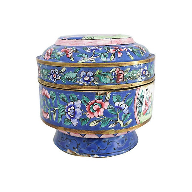 Asian 19th C. Chinese Enameled Box For Sale - Image 3 of 10