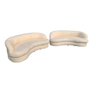 Vladimir Kagan Style Biomorphic Kidney Sofas - a Pair For Sale