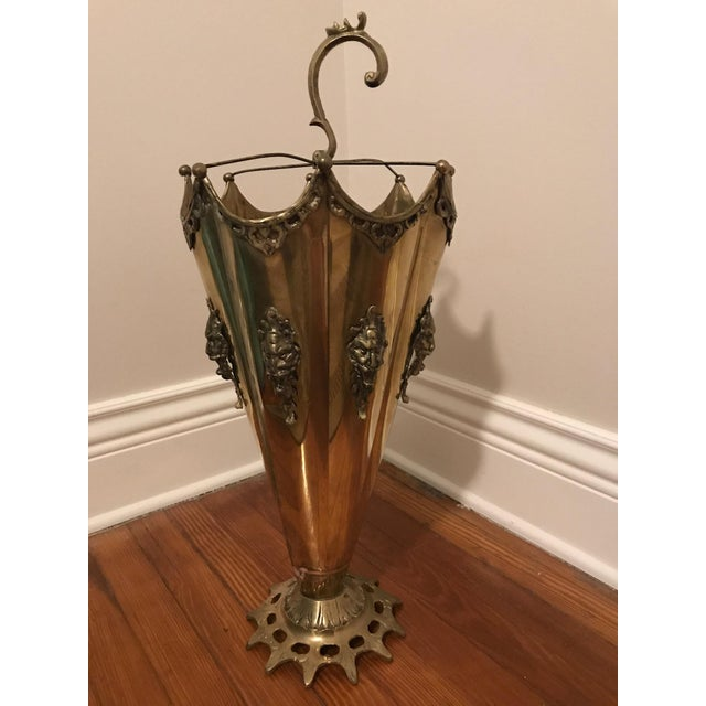 Ornate Brass Umbrella Shaped Umbrella Stand - Image 2 of 7