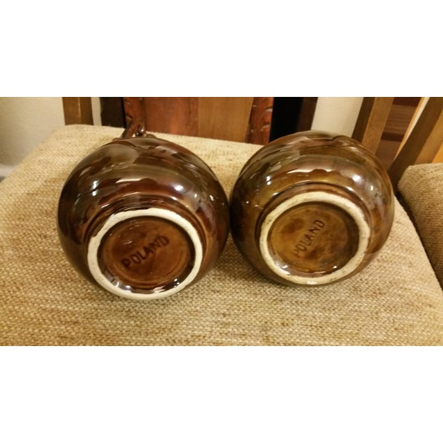 Mid-Century Poland Ceramic Decanter - A Pair - Image 5 of 5